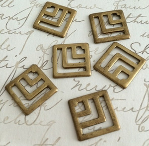 Vintage Square Stamping Cut Outs 17mm