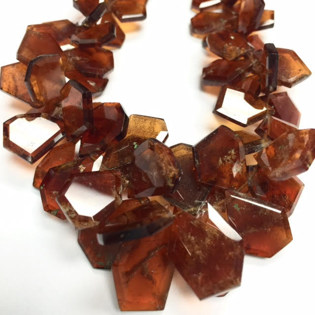 Unique Jewelry | Hessonite Garnet Beads | Crown Beads