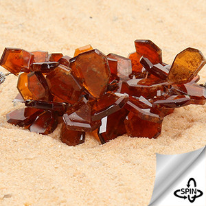 Fine & Rare Hessonite Moss Garnet Crown Cut Beads AAA