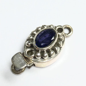 Lolite and Sterling Silver Oval Box Clasp   11 x 14mm