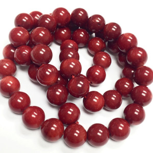 Red Bamboo Coral Beads 8mm