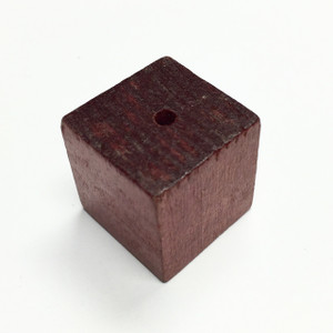 Vintage Wood Cube Beads 25mm