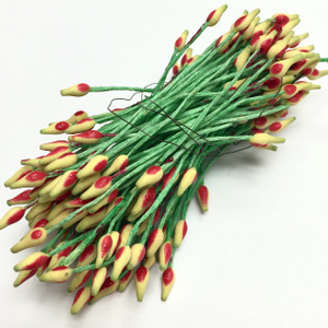 Vintage Red and Yellow Millinery Flower Stamens