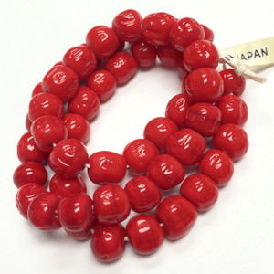 Rare Vintage Miriam Haskell Baroque Glass Beads Red Love