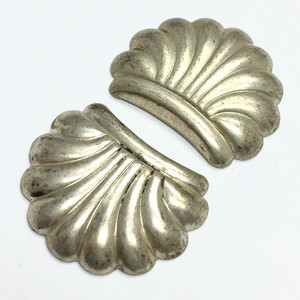 Vintage Silver Tone Shell Stampings-20 x 16mm