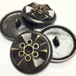 Vintage Dark Bronze Funky Folded Metal Buttons-28mm