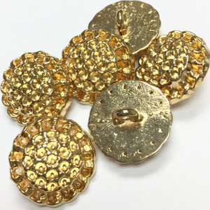 Vintage Gold Toned Bezel Buttons-17mm