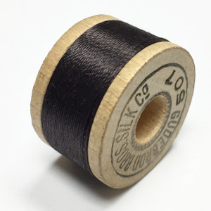 Vintage Gubebrod Bros. Silk Thread on Wooden Spool-Mocha Brown