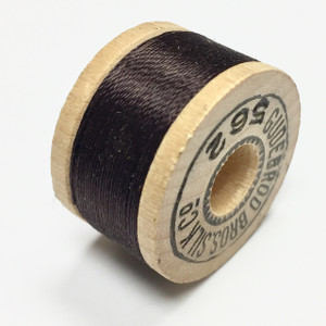 Vintage Gubebrod Bros. Silk Thread on Wooden Spool-Walnut Brown