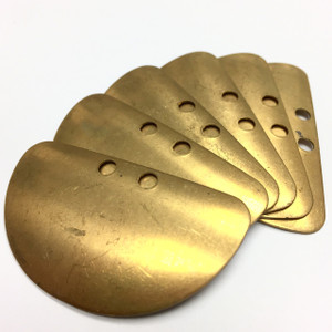 Vintage Half Moon Double Drilled Brass Stampings-42 x 23mm