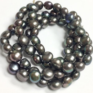Freshwater Peacock Button Pearl Beads-5-7mm