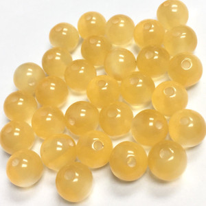 Vintage Italian Lucite  Champagne Moonglow Beads-8mm