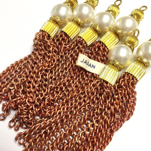 Vintage Cooper Chain Faux Pearl Tassels