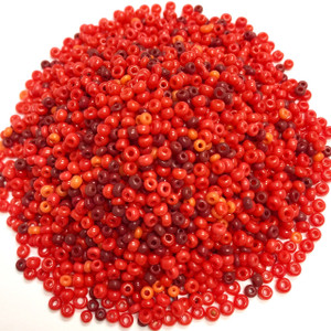 Vintage Red Valentine Seed Bead Mix