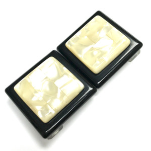 """Vintage Lucite and Mother of Pearl Belt Buckle 3 3/4 x 2"""""""