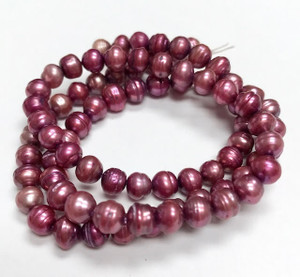 Baroque Lilac Freshwater 5mm Pearl Beads