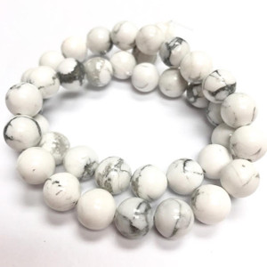 Grade A Highly Polished Howlite Round Beads  10mm