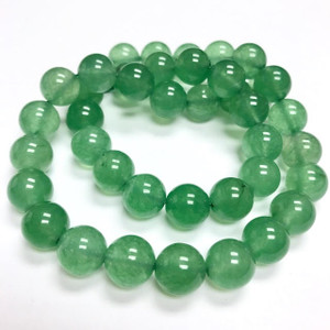 Grade A Highly Polished Emerald Chalcedony Round Beads  10mm