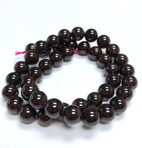 A Grade Highly Polished Garnet Round Beads 9mm