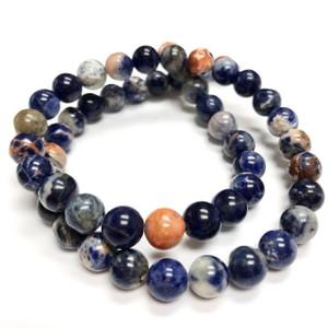 A Grade Orange Sodalite Round Beads 8mm