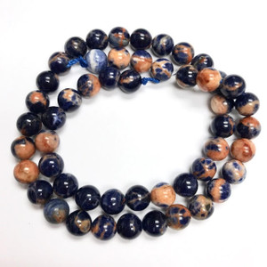 A Grade Orange Sodalite Highly Polished Round Beads