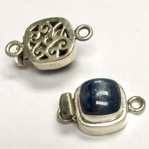 Sterling Silver Kyanite Square Clasp 14mm