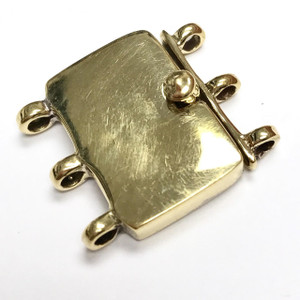 Substantial Triple Strand Brass Clasp 21 x 24mm