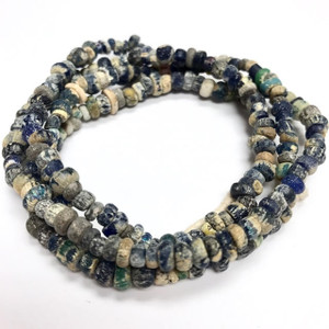 Antique Egyptian Glass Djenne Beads 4-5mm