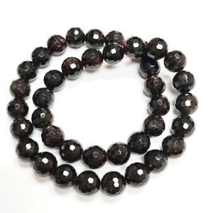 Highly Faceted Garnet Round Beads 10mm