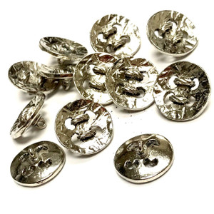 Vintage Silver Tone All Roped Up Buttons 17mm