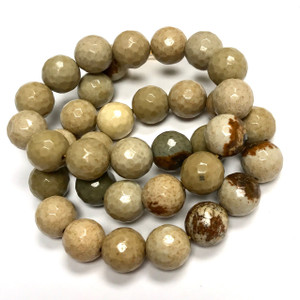 Faceted Cripple Creek Jasper Round Beads 10mm