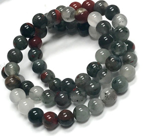 African Bloodstone Highly Polished Round Beads 6mm