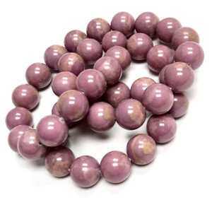 Highly Polished Phosphosiderite Round Beads