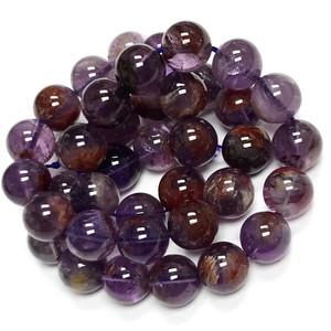 RARE Phantom Amethyst Highly Polished Round Beads