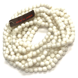 Rare Vintage Miriam Haskell Baroque Glass Beads-White