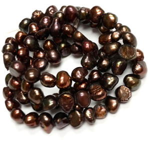 Freshwater Pearl Cocoa Nugget Beads