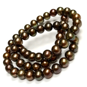Bronze Iris Freshwater Potato Pearl Beads