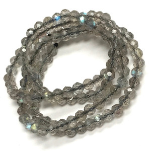 Labradorite Micro Diamond Cut Beads