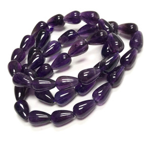 Highly Polished Amethyst Pear Shaped Beads
