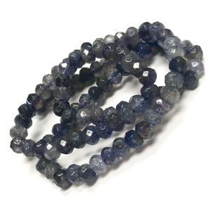 Iolite Faceted Rondell Beads