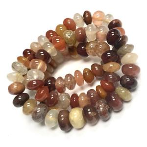 Rutilated Quartz Rondell Beads