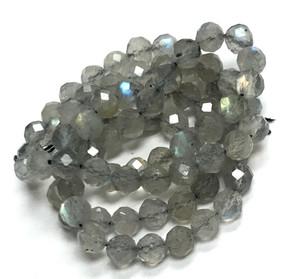 Micro Diamond Cut Labradorite Beads