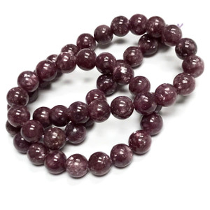 Highly Polished 8mm Lepidolite Round Beads
