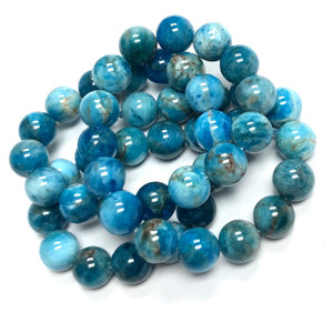 Apatite Highly Polished 8mm Round Beads