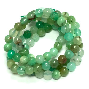 Highly Polished Chrysoprase Round Beads-4mm
