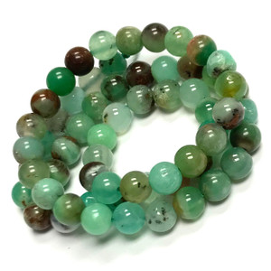 Highly Polished Chrysoprase Round Beads-6mm