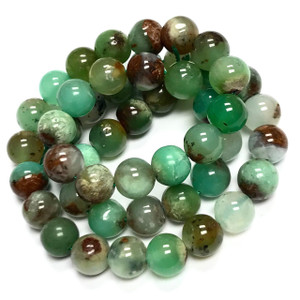 Highly Polished Chrysoprase Round Beads-8mm