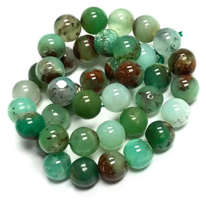 RARE Highly Polished Chrysoprase Round Beads-10mm