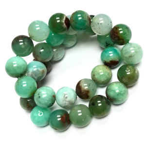 RARE Highly Polished Chrysoprase Round Beads-12mm