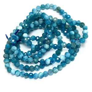 Micro Diamond Cut Apatite Beads-2mm